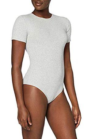 MERAKI Mujer Bodies y corpiños - Marca Amazon - Trajecito de Algodón Mujer, (Light Grey Marl), XS