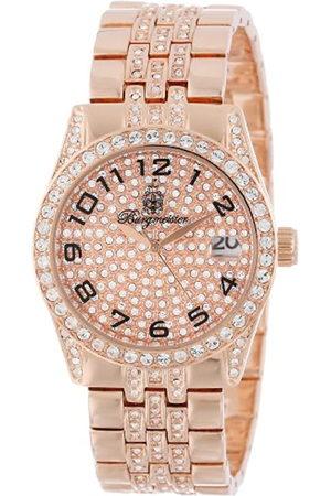 Burgmeister Hombre Relojes - Diamond Star - Reloj analógico de caballero de cuarzo con correa de latón rosa - sumergible a 30 metros