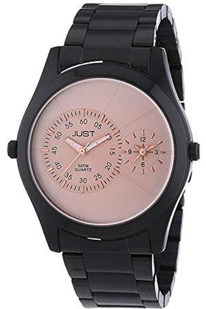 Just Watches 77-BK-RGD - Reloj de Cuarzo para Hombre, con Correa de Acero Inoxidable
