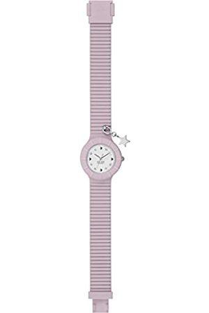 Hip Reloj Mujer Piercing Esfera e Correa in silicio, Glam Estrella púrpura