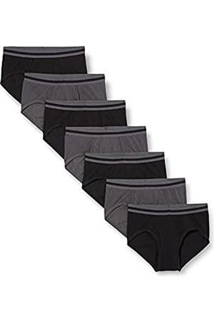 FIND Marca Amazon - Slip para Hombre Y-Front, Pack de 7, (Black/Charcoal), M