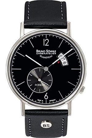 Bruno Söhnle Reloj Analógico para Hombre de Cuarzo con Correa en Cuero Genuino 17-13053-761