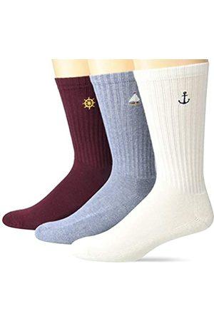 Goodthreads Pack de 3 Pares de Calcetines Acanalados casual-socks Talla ˙nica