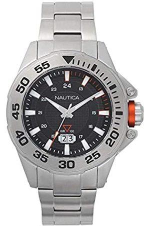 Nautica Hombre Relojes - RelojAnalógicoparaHombredeCuarzoconCorreaenAceroInoxidableNAPWSV004