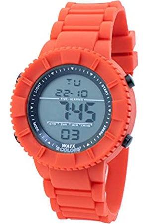Watx Reloj Digital para Hombres de Cuarzo con Correa en Caucho RWA1705-C1772