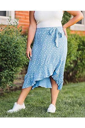 THE DROP Mujer Midi - Falda para Mujer Midi con Volantes, por @caralynmirand