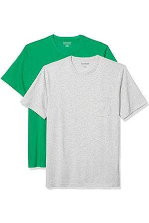 Amazon Pack de 2 Camisetas Ajustadas con Bolsillo y Cuello Redondo Fashion-t-Shirts