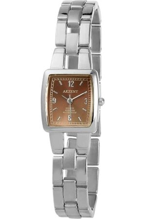 Akzent Mujer Relojes - SS7127000085 - Reloj analógico de mujer de cuarzo con correa de aleación plateada - sumergible a 30 metros