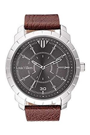 Louis Villiers Hombre Relojes - LouisVilliersRelojAnalógicoparaUnisexAdultosdeCuarzoconCorreaenCueroLV1031