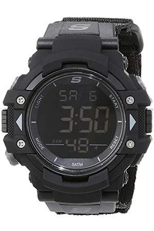 Skechers Hombre Relojes - Reloj Digital para Hombre de Cuarzo con Correa en Nailon SR1037