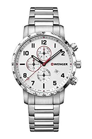 Wenger Hombre Attitude Chronograph - Reloj de Acero Inoxidable de Cuarzo analógico de fabricación Suiza 01.1543.110