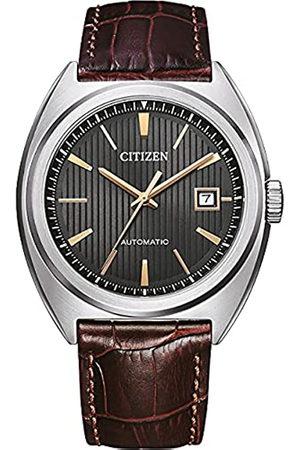 Citizen Reloj Analógico para Hombre de Automático con Correa en Cuero NJ0100-03H