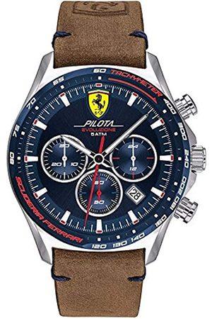Scuderia Ferrari Reloj Analógico para Hombre de Cuarzo con Correa en Cuero 0830711