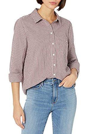 Goodthreads Mujer Blusas - Seersucker Long-Sleeve Button-Front Tunic Shirt Shirts