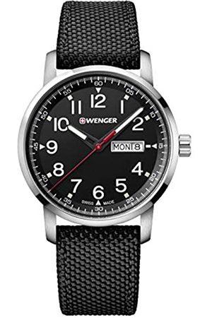 Wenger Reloj Analógico Unisex de Cuarzo con Correa en Nailon 01.1541.105