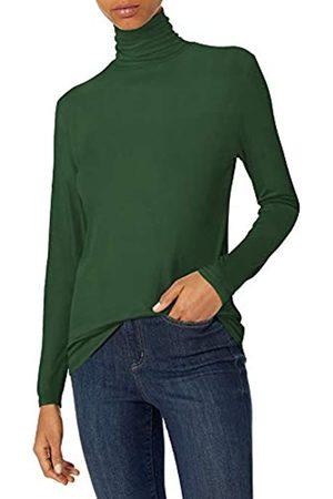 Daily Ritual Rayon Spandex Fine Rib Long-Sleeve Layering Turtleneck Shirts