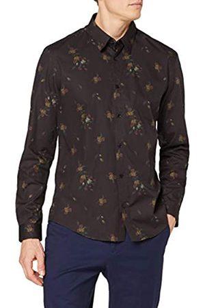 FIND Marca Amazon - Camisa Vestir Estampado Floral Hombre, XL