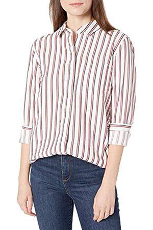 Goodthreads Mujer Blusas - Seersucker Long-Sleeve Button-Front Tunic Shirt Shirts S
