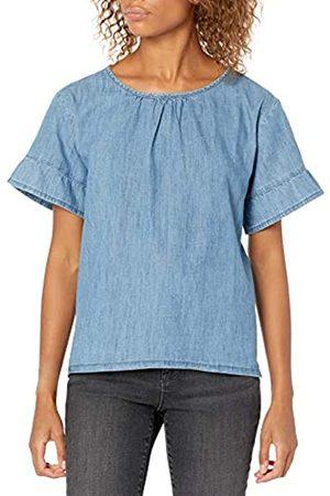 Goodthreads Denim Flutter-Sleeve Woven tee Shirts