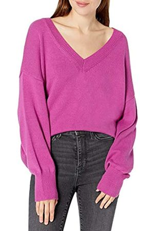 THE DROP Lisa Suéter amplio suave de cuello de pico ancho Mujer