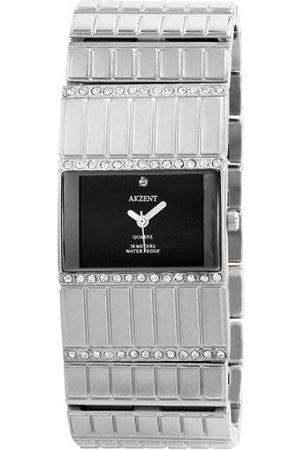 Akzent SS8121000003 - Reloj analógico de mujer de cuarzo con correa de aleación plateada - sumergible a 30 metros