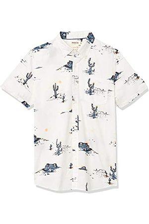 Goodthreads Hombre Casual - Slim-Fit Short-Sleeve Printed Poplin Shirt Button-Down-Shirts S