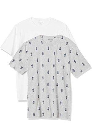 Amazon Hombre Polos - 2-Pack Slim-Fit Crewneck T-Shirt Fashion-t-Shirts, XXL