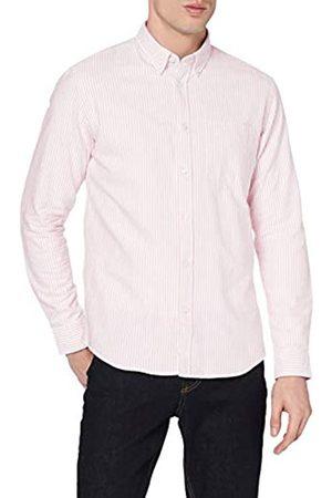 MERAKI Hombre Casual - Marca Amazon - Cotton Regular Fit Oxford Stripe - Camisa casual Hombre, XL