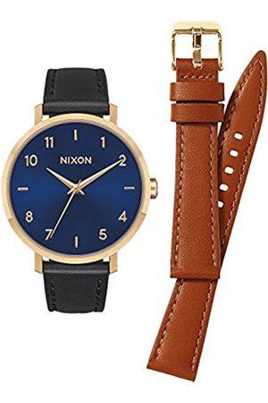 Nixon Mujer Relojes - Reloj Analógico para Mujer de Cuarzo con Correa en Cuero A1230-933-00