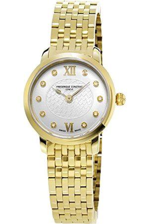 Frederique Constant Mujer Relojes - Reloj Analógico para Mujer de Cuarzo con Correa en Chapado en Acero Inoxidable FC-200WHDS5B