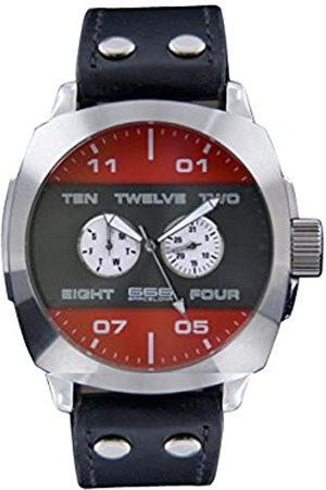666Barcelona Hombre Relojes - RelojAnalógicoparaHombredeCuarzoconCorreaenCuero666-252