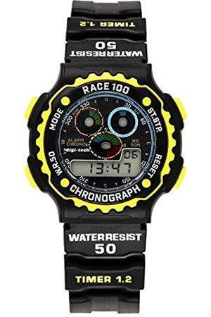 Digi-Tech Hombre Relojes - Reloj Digital para Hombre de Cuarzo con Correa en Caucho DT102911