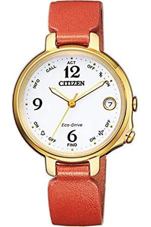 Citizen Mujer Relojes - Reloj Analógico para Mujer de Energía Solar con Correa en Cuero EE4012-10A