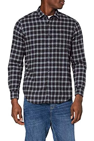 MERAKI Hombre Casual - Marca Amazon - Camisa de Manga Larga de Algodón Hombre, M
