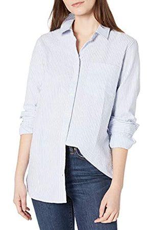 Goodthreads Seersucker Long-Sleeve Button-Front Tunic Shirt Camisa