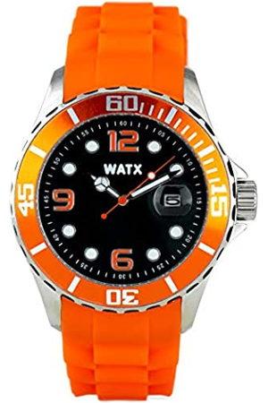 Watx Reloj Analógico para Hombres de Cuarzo con Correa en Caucho RWA9022