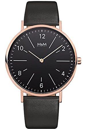M&M Hombre Relojes - RelojAnalógicoparaMujerdeCuarzoconCorreaenCueroM11870-496