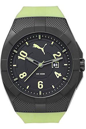 PUMA Hombre Relojes - Iconic - Reloj análogico de cuarzo con correa de poliuretano para hombre