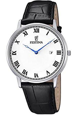 Festina – Reloj con Mecanismo de Cuarzo para Hombre Color Esfera analógica Pantalla y Correa de Cuero f6831/3