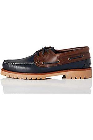 FIND Hombre Loafers - AMZ142 - Leather Náuticos, Zapatos para Hombre,Marino/Marron