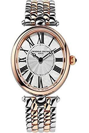 Frederique Constant Mujer Relojes - Reloj Analógico para Mujer de Cuarzo Suizo con Correa en Acero Inoxidable FC-200MPW2V2B