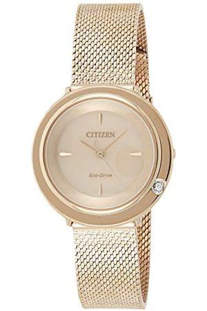 Citizen Mujer Relojes - Reloj Analógico para Mujer de Cuarzo con Correa en Acero Inoxidable EM0643-84X