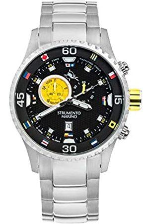 Strumento Marino Reloj Analógico Para Hombre de Cuarzo con Correa en Acero Inoxidable Sm133Mb-Ss-Nr-Gl