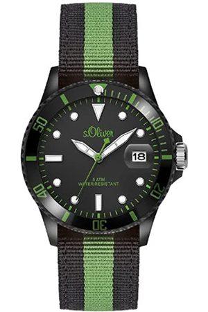 s.Oliver SO-2692-LQ - Reloj analógico para Caballero de Tela