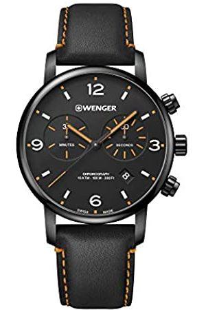 Wenger Hombre Relojes - Hombre Urban Metropolitan Chronograph - Reloj de Acero Inoxidable de Cuarzo analógico de fabricación Suiza 01.1743.114