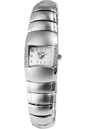 Akzent SS7122000069 - Reloj analógico de mujer de cuarzo con correa de aleación plateada - sumergible a 30 metros