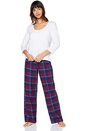 IRIS & LILLY Marca Amazon - Pijama de Modal Mujer, Multicolor (Red), XL