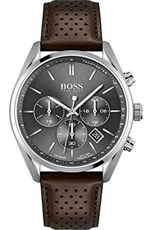 HUGO BOSS Hombre Relojes - Reloj Analógico para Hombre de Cuarzo con Correa en Piel de Becerro de Cuero 01513815