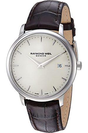 Raymond Weil Hombre Relojes - Reloj Analógico para Hombre de Cuarzo con Correa en Cuero 5488-STC-40001