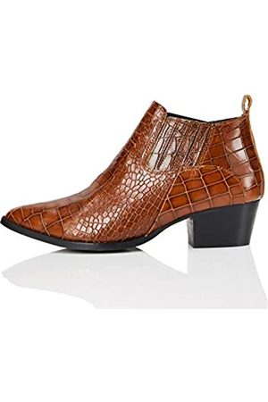 FIND Mujer Botas camperas y bikers - FIND Shoe Boot Botas Camperas, (Tawny Croc)